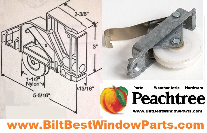 Peachtree Screen Door Rollers   Patio Door Repair Parts U0026 Wheels | BiltBest  Window Parts