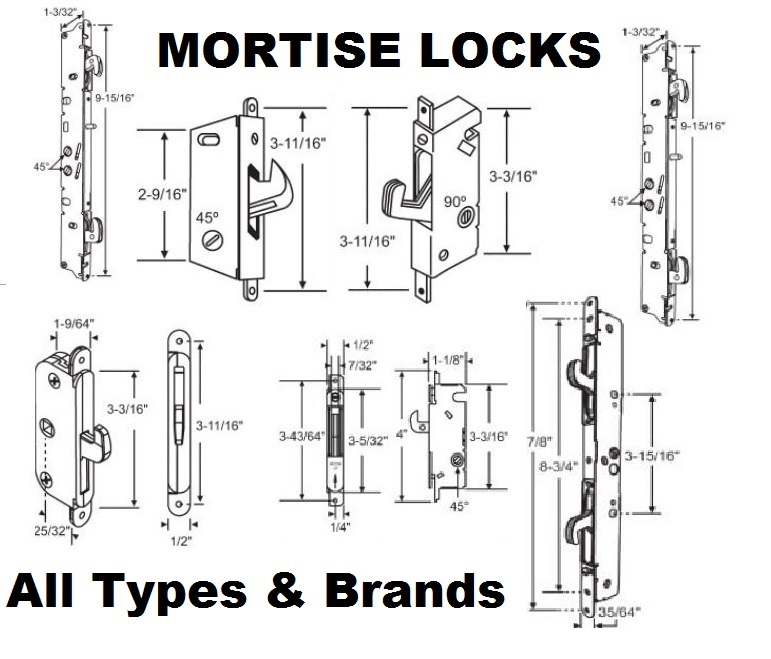 Sliding Patio Door Lock Sets Mortise Locks Replacement Parts All Brands |  BiltBest Window Parts