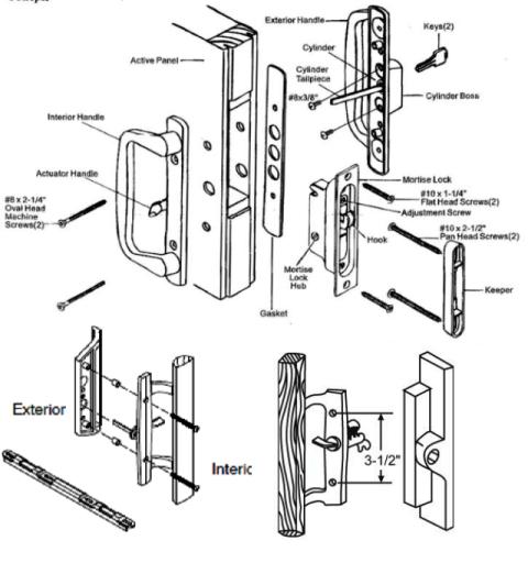 All Brands All Patio Door Parts Locks Handles And Parts | BiltBest Window  Parts