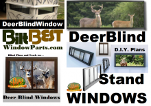 Deer Hunters Looking For Retro-fitting New Style Aluminum Framed Windows Into Old Deerblinds Have Many Options.