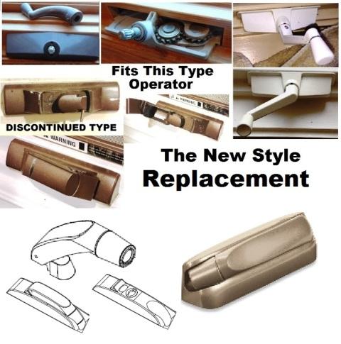 Replacement Vintage Marvin bronze casement window crank handle
