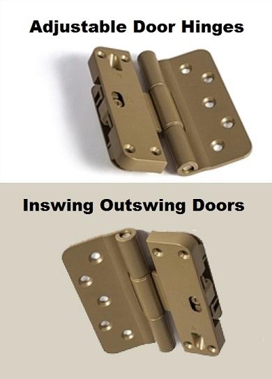 Set Of Three 3 And Four 4 Adjustable Door Hinge