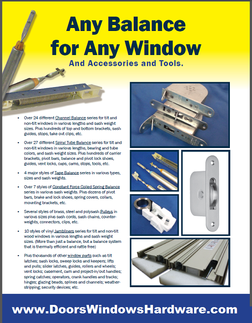 Window Balances For Double Hung And Single Windows