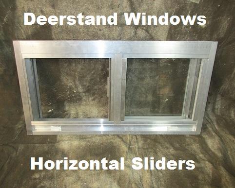 Deer Hunting Blind Windows Standard Glass Slider Style