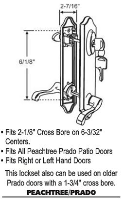 Peachtree Patio Door Hardware Parts Replacement Part