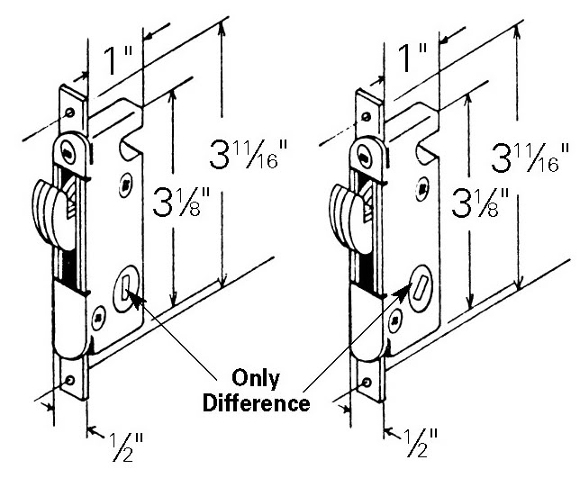 Mortise Lock Mortice Replacements For Patio Doors