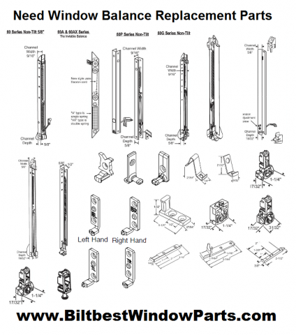 Double Hung Window Sash Balances Jamb Liners Carrier Track Parts