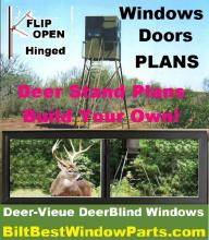 "deer blind door kits include all the extrusion components pre-cut for self assembly or 're-sizing"" to fit your needs."