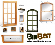 OEM made BiltBest Sashes with primed wood and/or metal clad replacement sashes for homeowners.