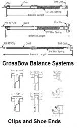 Crossbow Window Balance System Parts 870 860 900 901 909