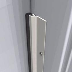 door frame seal. wood / metal door weather seals extreme temperature jamb weather-strip - full kit with screws frame seal b