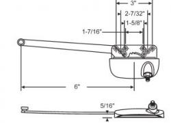 Truth 6 Quot Ellipse Style Single Arm Sill Mounted Casement