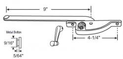 Truth 9 Quot Arm Face Mounted Casement Window Operator