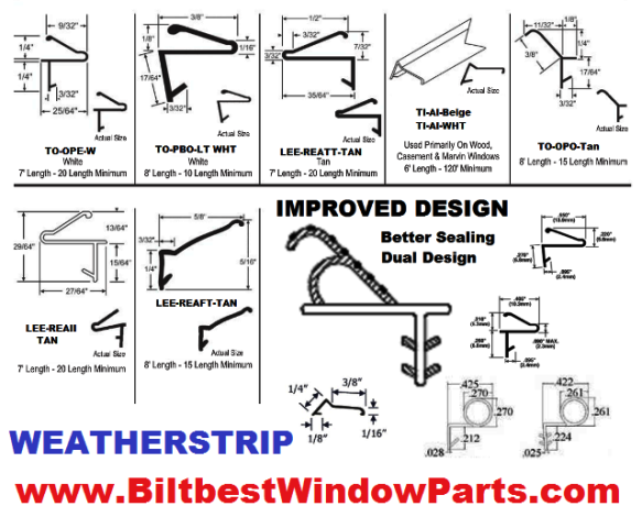 Weather Strip Amp Seals Page 3 Biltbest Window Parts